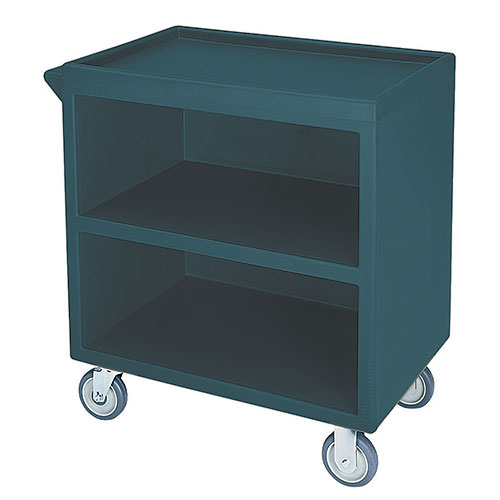Cambro Enclosed Service Cart - 500 lbs, Granite Green, 2 fixed, 2 swivel Casters BC330192