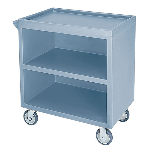 Cambro Enclosed Service Cart - 500 lbs, Slate Blue, 2 fixed, 2 swivel Casters BC330401