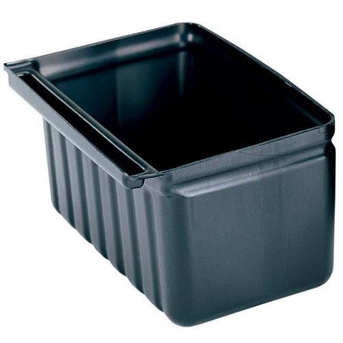 Cambro 2.5 Gal. Silverware Holder for KD Carts- Black BC331KDSH110