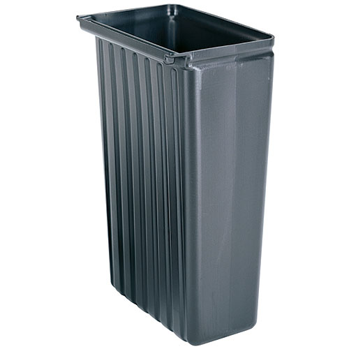 Cambro 8 Gallon Trash Container for KD Carts - Black BC331KDTC110
