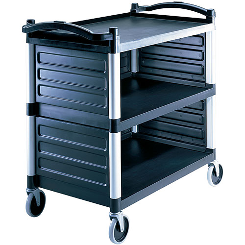 Cambro Single Shelf Panel Set for KD Utility Cart - Black BC340KDP110