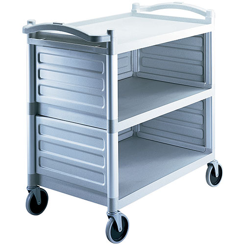 Cambro Single Shelf Panel Set for KD Utility Cart - Speckled Gray BC340KDP480