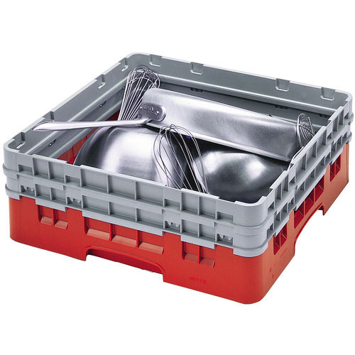 Cambro Camrack® Full Base Rack - 2 Extenders Red BR578163