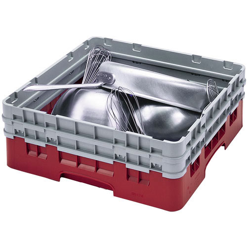 Cambro Camrack® Full Base Rack - 2 Extenders Cranberry BR578416