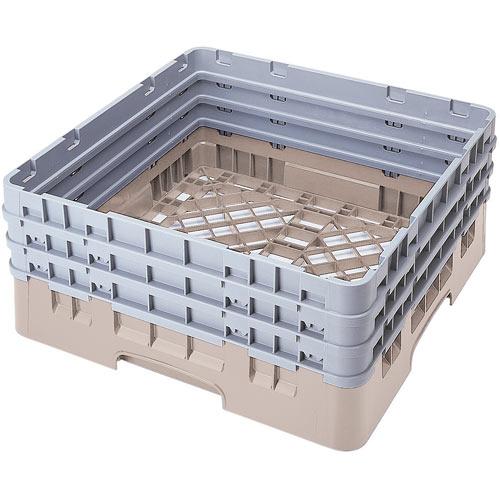 Cambro Camrack® Full Base Rack - 3 Extenders Beige BR712184