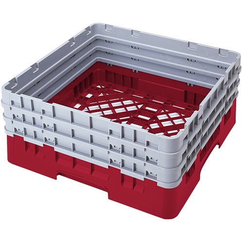 Cambro Camrack® Full Base Rack - 3 Extenders Cranberry BR712416