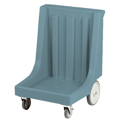 Cambro Dish Rack Camdolly -350 lb Cap, w/ Handle & Big Rear Wheels, Slate Blue CD2020HB401