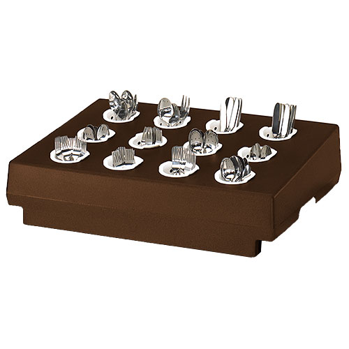 Cambro 12 Compartment Cutlery Rack Only - Dark Brown CR12131
