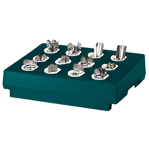 Cambro 12 Compartment Cutlery Rack Only - Granite Green CR12192