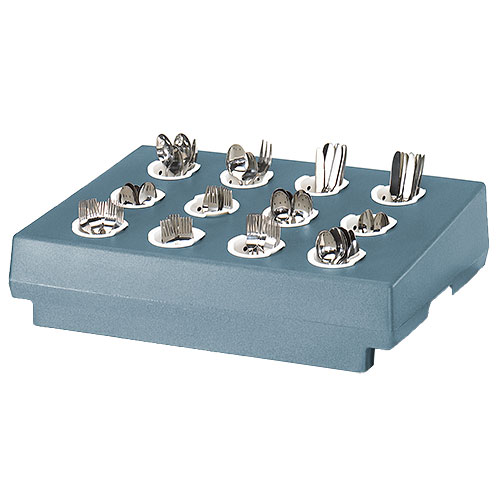 Cambro 12 Compartment Cutlery Rack Only - Slate Blue CR12401