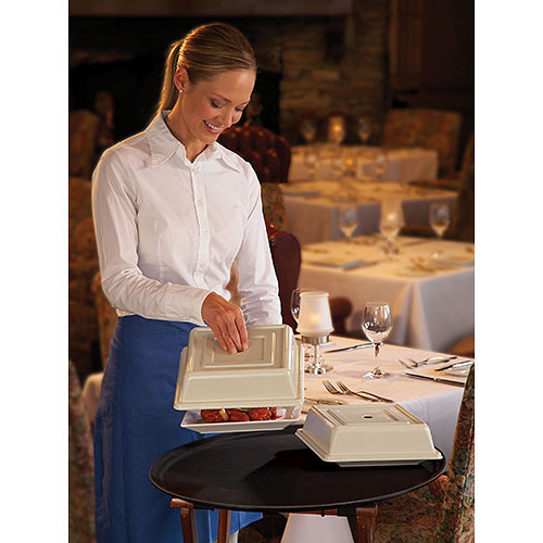 "Cambro Square Versa Camcovers® 10"" - Antique Parchment 978SFVS101 2"