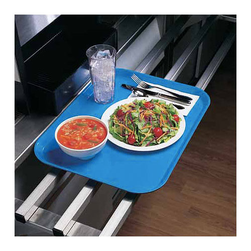 "Cambro Low Profile Rectangular Camtray - 4 1/4"" x 6"" Robin Egg Blue 46518 2"