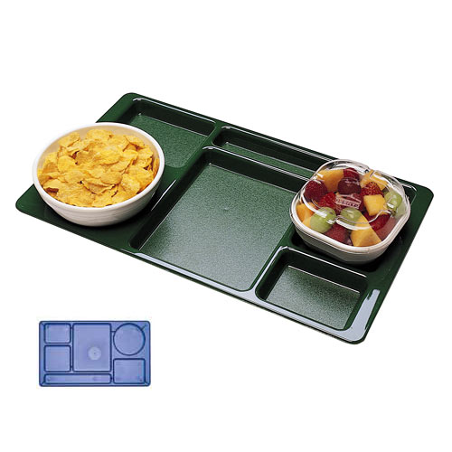 Cambro Polycarbonate School Compartment 2 X 2 Tray -  Red 915CW404