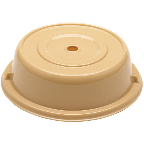 "Cambro Round Camwear® Polycarbonate Camcovers® 12 1/8"" - Beige 1202CW133"