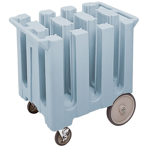 "Cambro Poker Chip Style Dish Caddy - 5 3/4"" Max, 6 Columns, Slate Blue DC575401"