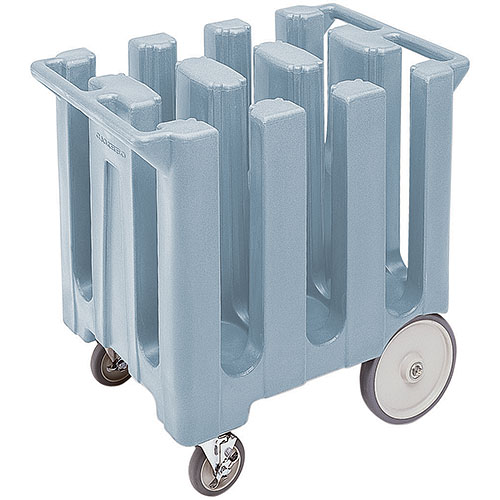 "Cambro Poker Chip Style Dish Caddy - 7"" Max, 6 Columns, Slate Blue DC700401"