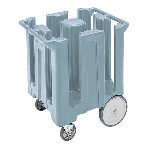"Cambro Poker Chip Style Dish Caddy - 8 1/4"" Max, 4 Columns, Slate Blue DC825401"