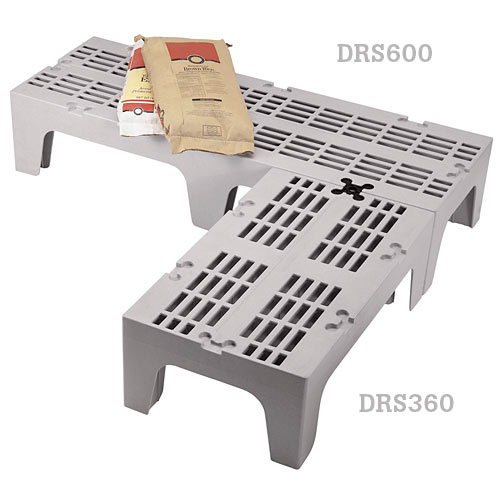 "Cambro S-Series Dunnage Racks - Gray Slotted Top 30"" DRS300480"