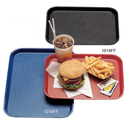"Cambro Fast Food Tray - 10 7/16"" x 13 9/16"" Black 1014FF110 2"