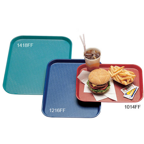 "Cambro Fast Food Tray - 13 13/16"" x 17 3/4"" Blush 1418FF409 2"