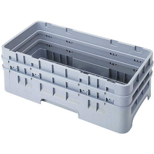 Cambro Camrack® Half Base Rack - 2 Extenders Soft Gray HBR578151