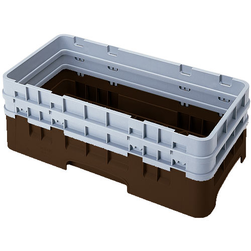 Cambro Camrack® Half Base Rack - 2 Extenders Brown HBR578167
