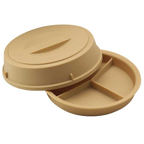 Cambro Camwear® Heat Keeper 3-Compartment Base & Cover - Beige HK93CW133