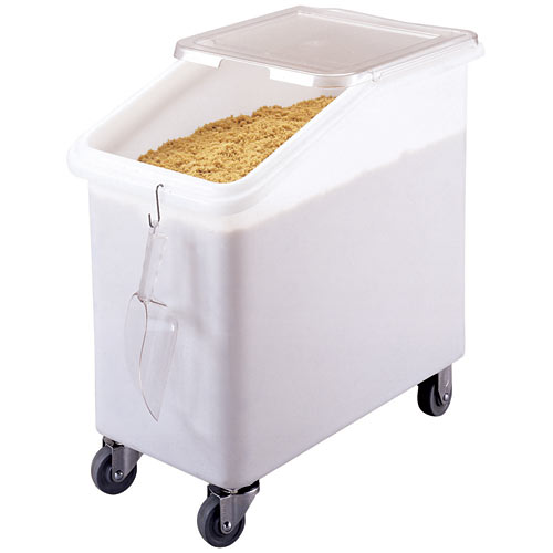 Cambro Mobile Ingredient Bin w/ Slant Top - 27 gal IBS27148