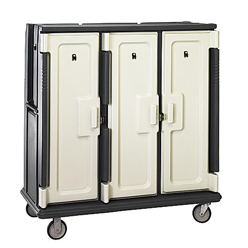 "Cambro Correctional Tall Meal Delivery Cart - 3 Compartments, Holds 14"" x 11"" Base Trays MDC1411T60"
