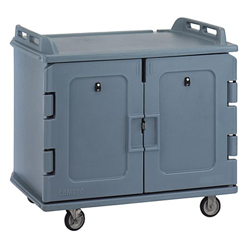"Cambro Low Profile Meal Delivery Cart - 2 Door, Holds 14"" x 18"" Trays MDC1418S20"