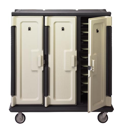 "Cambro Tall Meal Delivery Cart - 3 Door, 3 Compartments, Holds 14"" x 18"" Trays MDC1418T30"