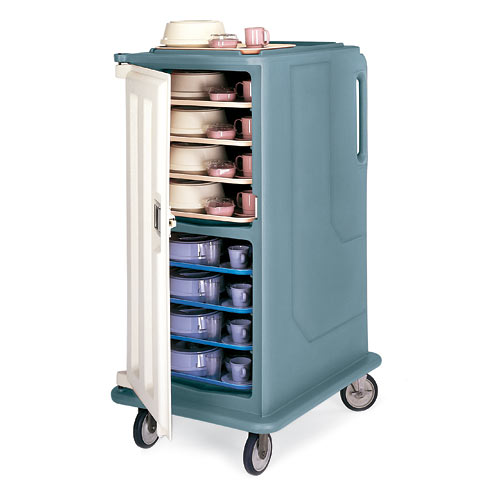 """Cambro Tall Meal Delivery Cart - 1 Door, 2 Compartments, Holds 15"""" x 20"""" Trays MDC1520T16"""