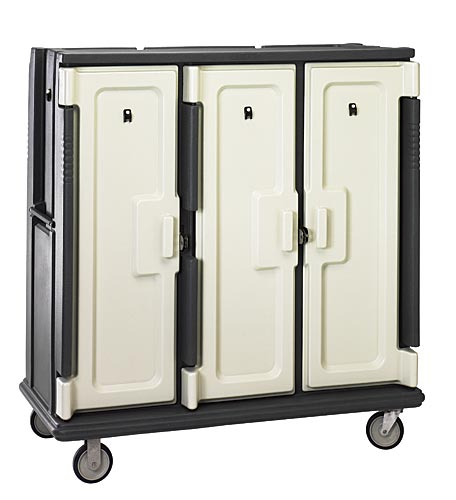 "Cambro Tall Meal Delivery Cart - 3 Door, 3 Compartments, Holds 15"" x 20"" Trays MDC1520T30"