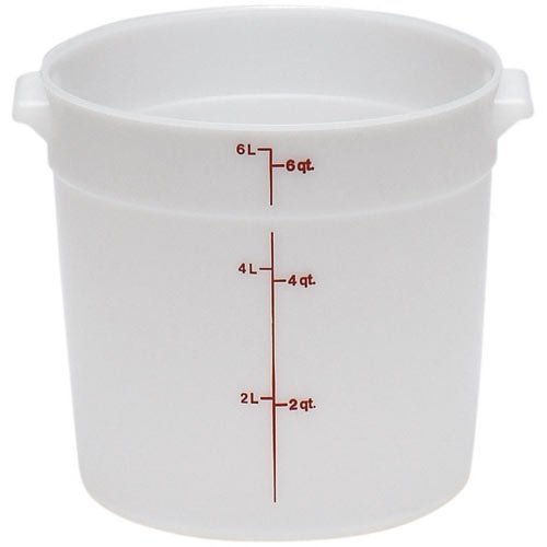 Cambro Poly Rounds Storage Container- 6 qt White RFS6148