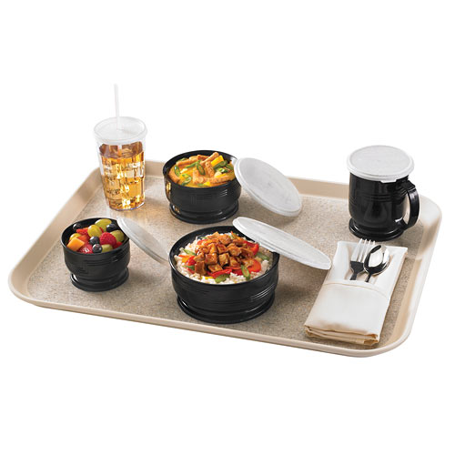 Cambro Shoreline Collection 16 oz. Entree Bowl -  Black MDSB16110 2