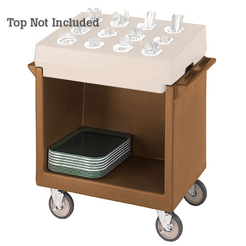 Cambro Tray & Dish Cart Only - Coffee Beige TDC2029157