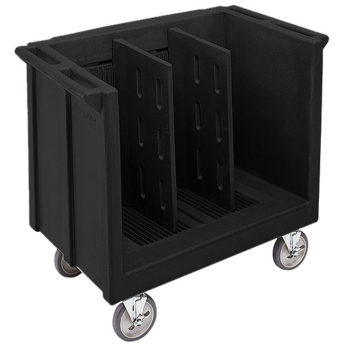 Cambro Adjustable Tray & Dish Cart - Black TDC30110