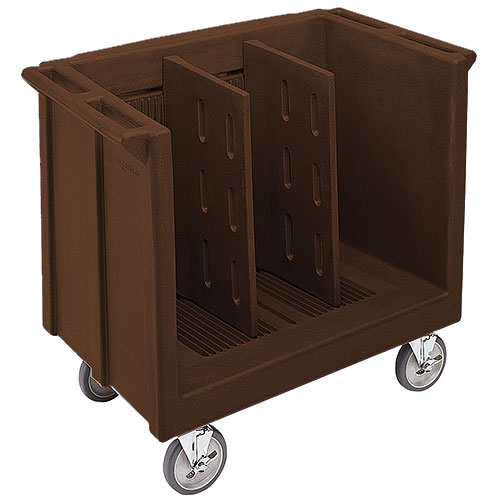 Cambro Adjustable Tray & Dish Cart - Dark Brown TDC30131