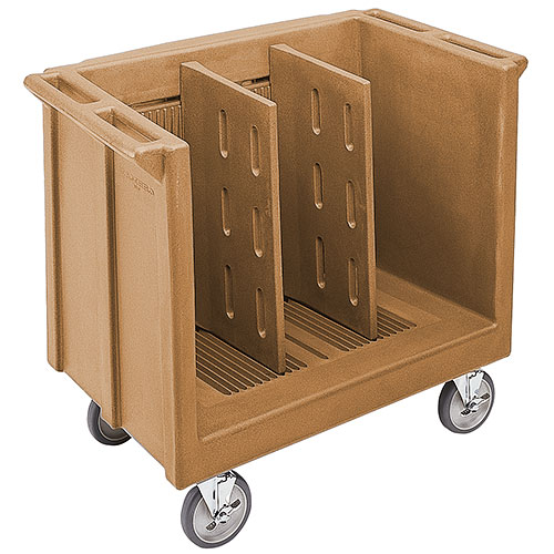 Cambro Adjustable Tray & Dish Cart - Coffee Beige TDC30157