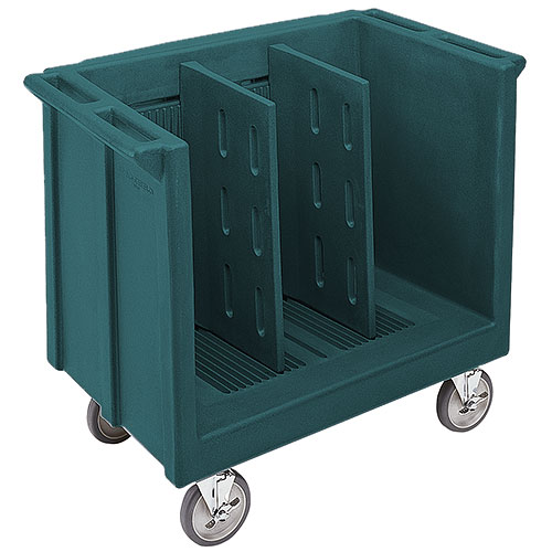 Cambro Adjustable Tray & Dish Cart - Granite Green TDC30192