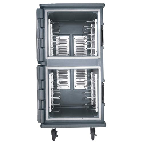 "Cambro Camtherm® Tall Profile Hot & Cold Food Holding Cabinet - All 6"" Casters CMBHC1826TSF 2"