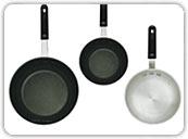 Aluminum Fry Pans<br />11&quot; - 12&quot;