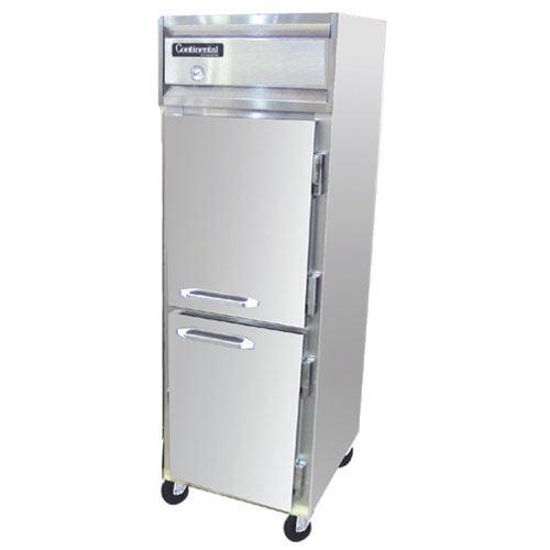 Continental Refrigerator Value Line Standard Solid Half Door Reach-In Freezers - 1 section 1F-HD