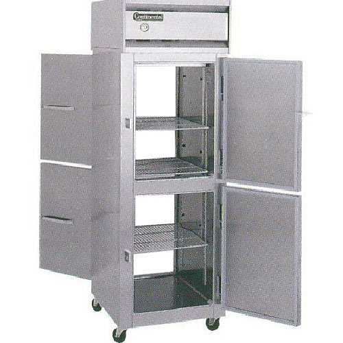 Continental Refrigerator Value Line Standard Solid Half Door Pass-Thru Freezers - 2 section 1F-PT-HD