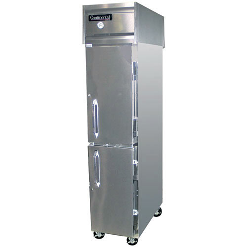 Continental Refrigerator Value Line Slim Line Half Door Reach-In Refrigerators 1 section 1RSE-HD