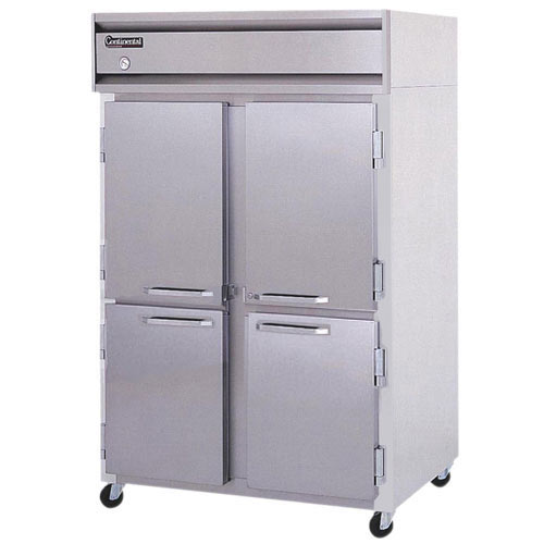 Continental Refrigerator Value Line Standard Solid Half Door Pass-Thru Freezers - 2 section 2F-PT-HD