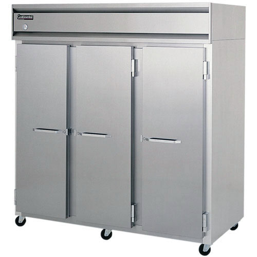 Continental Refrigerator Value Line Standard Solid Door Pass-Thru Freezers - 3 section 3F-PT
