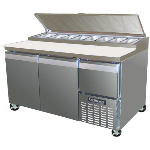 "Continental Refrigerator Forced Air Pizza Preparation Table - 60""  CPA60"