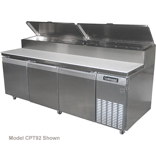 "Continental Refrigerator Forced Air Pizza Preparation Table - 93""  CPA93"