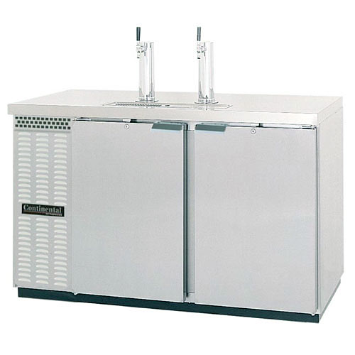 "Continental Refrigerator Draft Beer Dispenser 59"" 2 Keg Capacity Stainless Steel KC59-SS"
